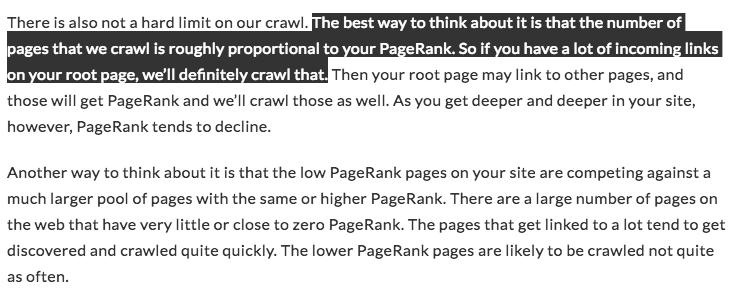 l'impact de la vitesse du site sur le nombre de pages crawlées par jour
